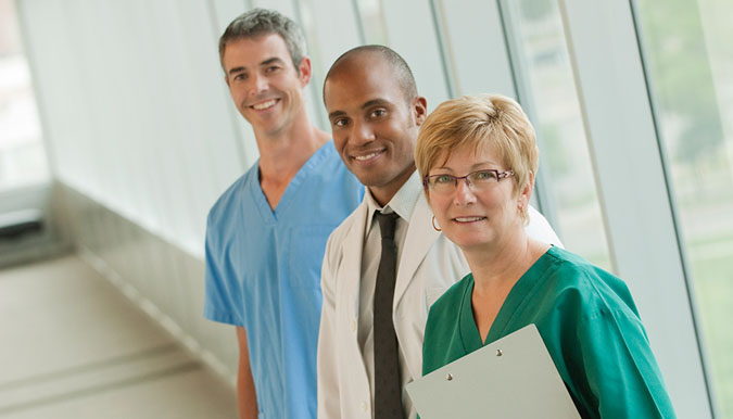 A group medical staff