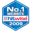 hitwise 2009 number 1 badge