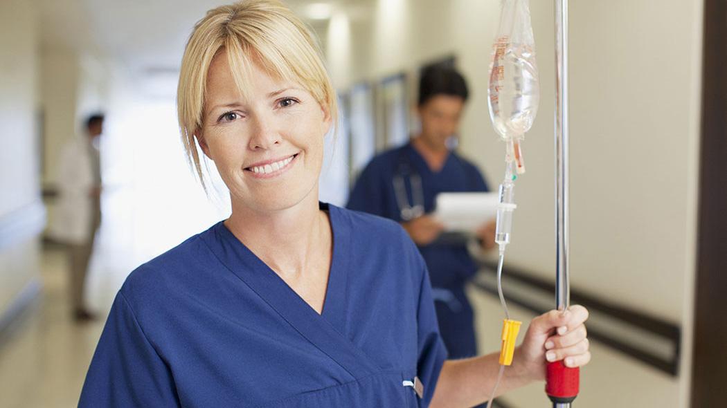 Friendly nurse in hospital
