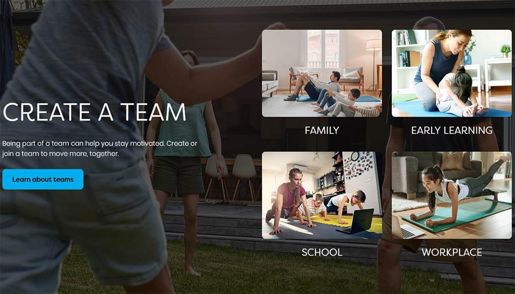 Create a team Get Active Victoria
