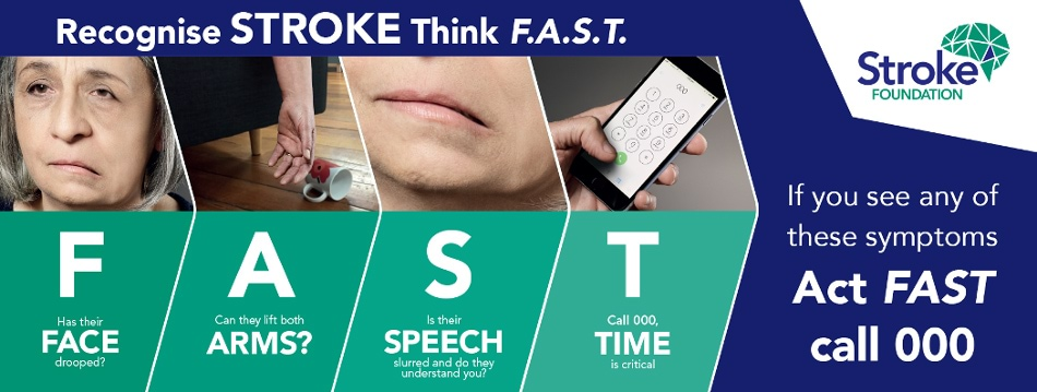 Recognise stroke think FAST - Stroke Foundation